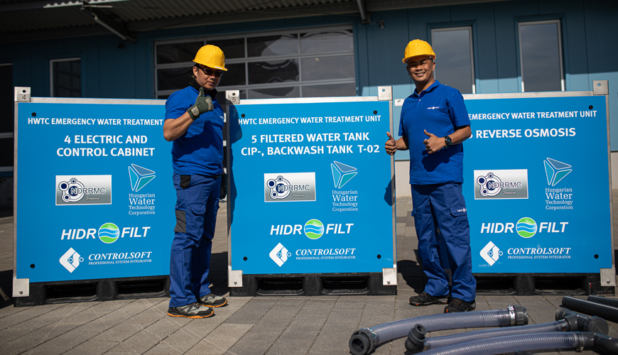 HWTC emergency water treatment unit in the Philippines