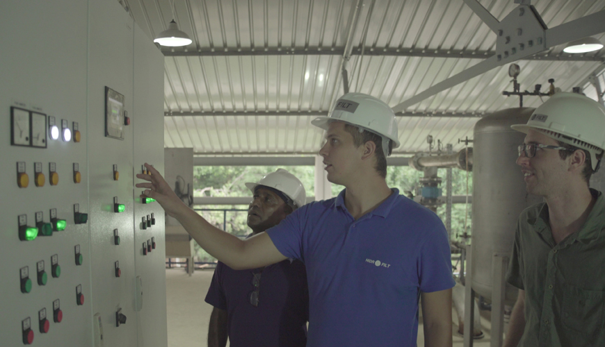 Reconstruction of a water treatment plant in Sri Lanka