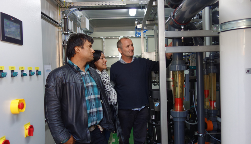 Containerised drinking water treatment in Peru